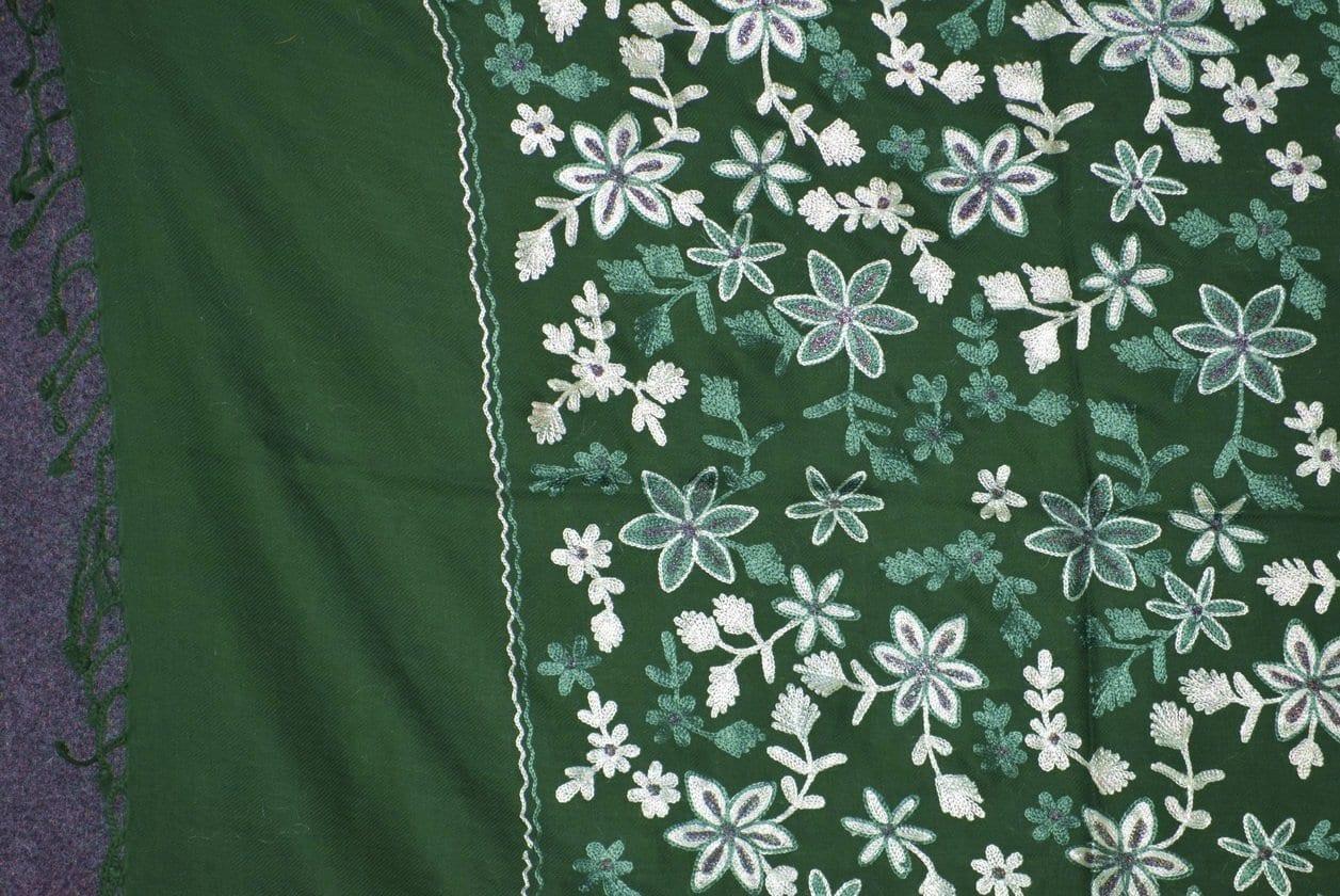 Pure Pashmina Kashmiri ZARI JAAL embroidered woollen stole C0431 2
