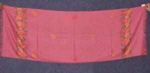 SEMI Pashmina Kashmiri PALLA WORK embroidered woollen stole C0437