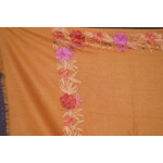 SEMI Pashmina Kashmiri BORDER WORK embroidered woollen stole C0440