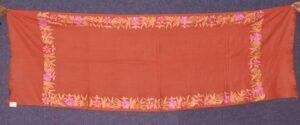 SEMI Pashmina Kashmiri BORDER WORK embroidered woollen stole C0442