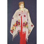 Pure Pashmina Kashmiri multicolor thread embroidered woollen stole C0447