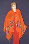 Pure Pashmina Kashmiri multicolor thread embroidered woollen stole C0448