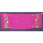 Pure Pashmina Kashmiri multicolor thread embroidered woollen stole C0449