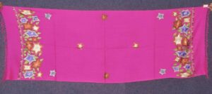 Pure Pashmina Kashmiri multicolor thread embroidered woollen stole C0449