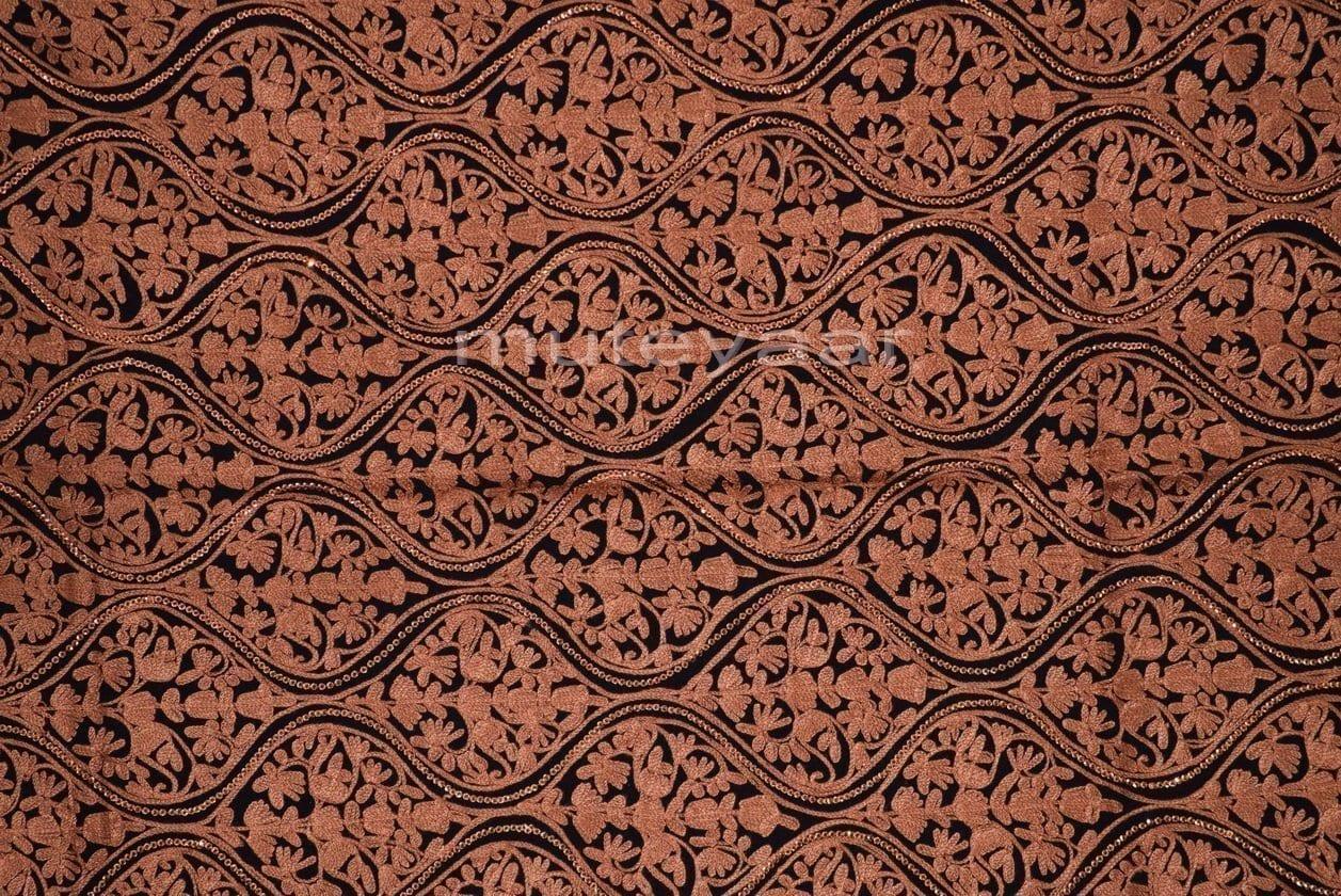 Kashmiri PURE Pashmina Heavy Matka embroidered woollen stole C0460 2