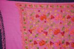 PURE Pashmeena Kashmiri Multicolour Sequins Jaal embroidered woollen stole C0470