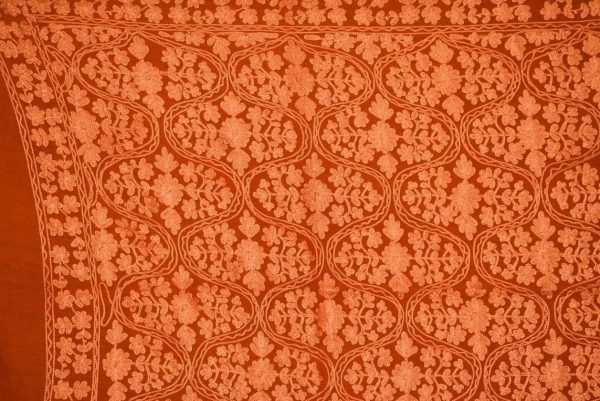 PURE Pashmeena Kashmere New Matka Jaal embroidered woollen stole C0475
