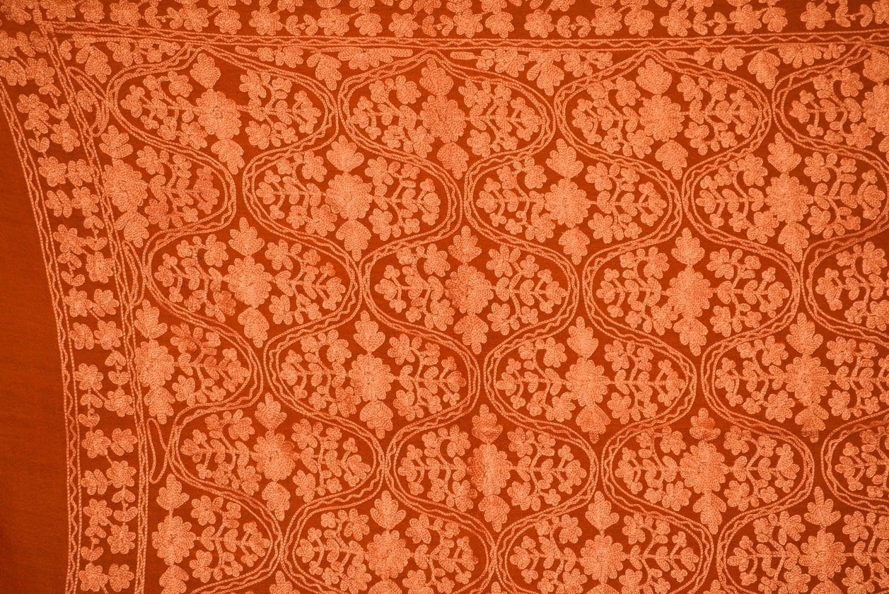 PURE Pashmeena Kashmere New Matka Jaal embroidered woollen stole C0475 2