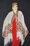 PURE Pashmina Kashmiri Phulkari embroidered woollen stole C0494