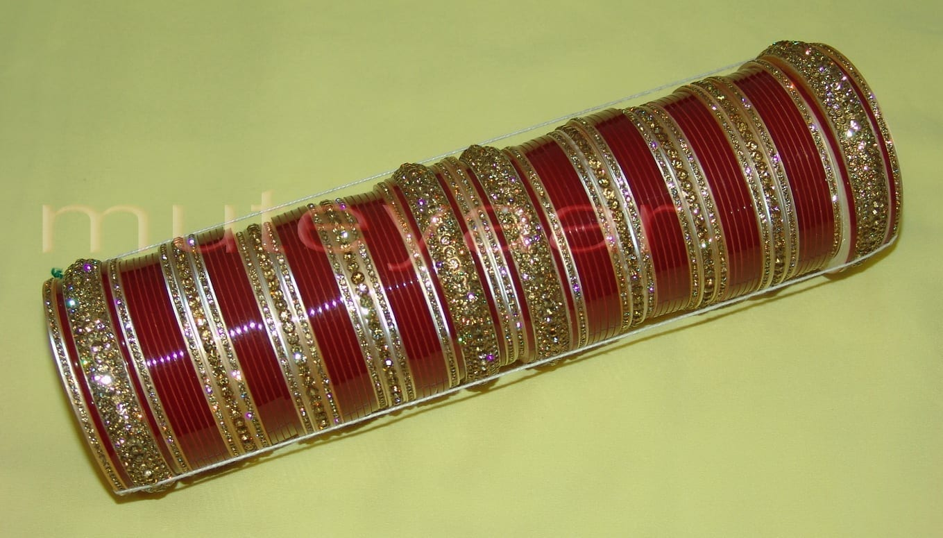 Custom made Antique Bridal Chura for the Punjabi Bride CH002 1