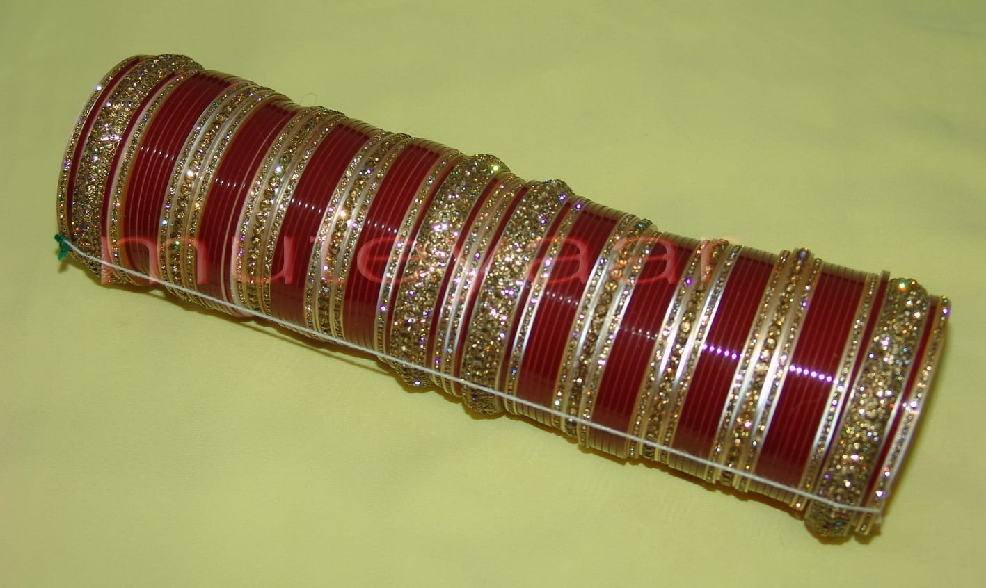 Custom made Antique Bridal Chura for the Punjabi Bride CH002 2