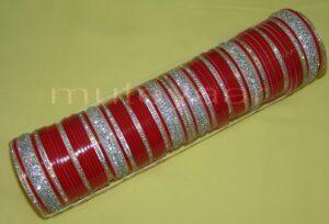 Custom made Silver Bridal Chura for the Punjabi Bride CH003