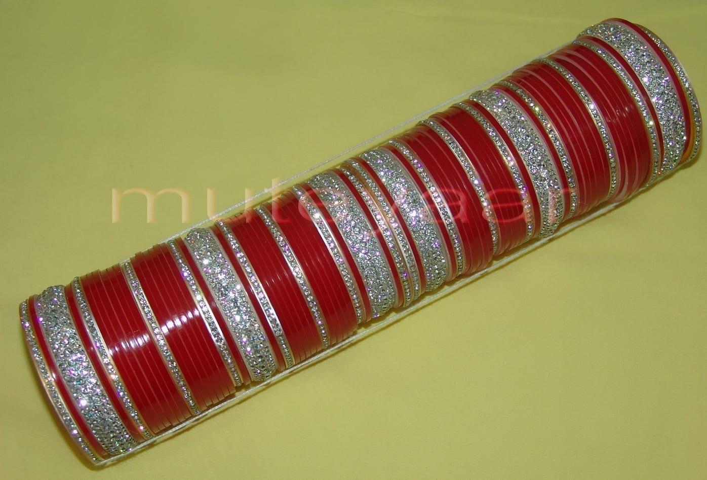 Custom made Silver Bridal Chura for the Punjabi Bride CH003 1