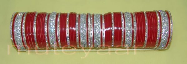 Custom made Silver Bridal Chura for the Punjabi Bride CH003