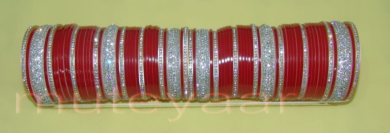 Custom made Silver Bridal Chura for the Punjabi Bride CH003 3