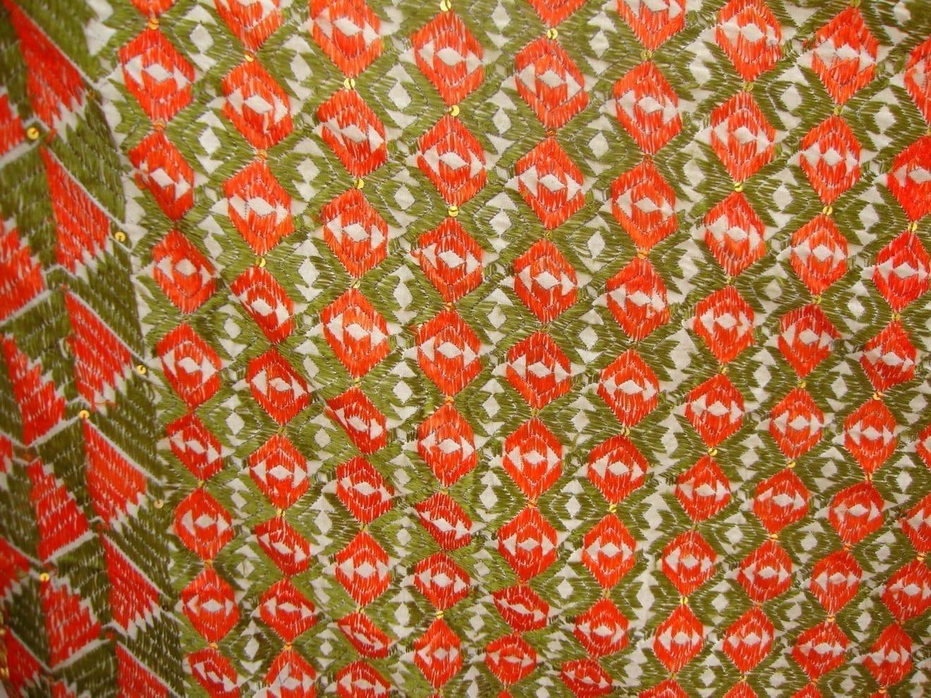 Phulkari Bagh Heavy Embroidered multicolor dupatta D0148 2