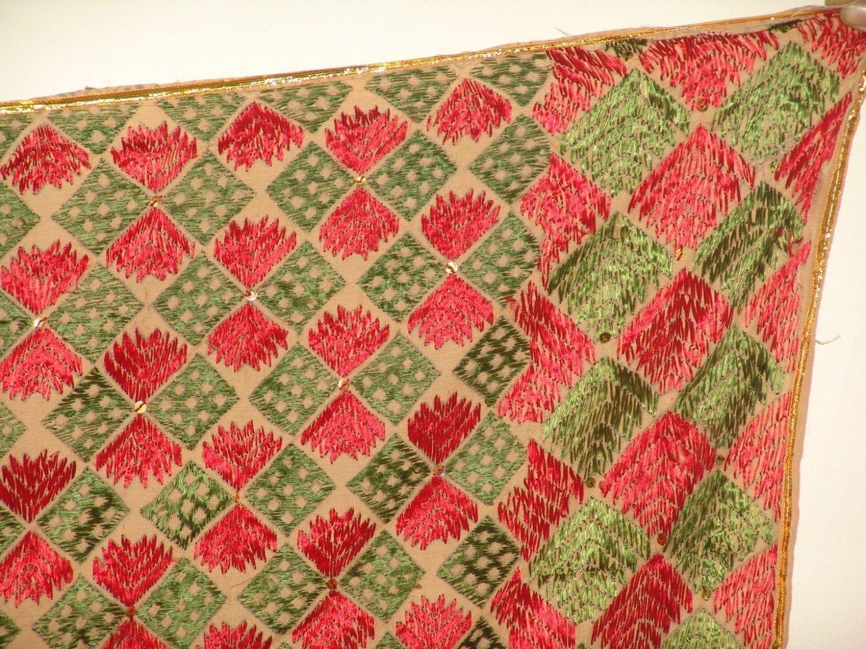 Phulkari Bagh Hand Embroidered multicolor dupatta D0627 1