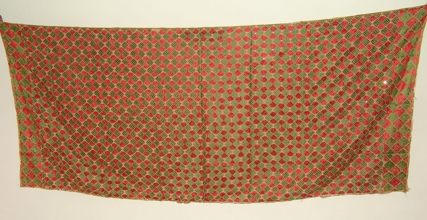 Phulkari Bagh Hand Embroidered multicolor dupatta D0627 2