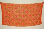 Orange BRIDAL CHINON Phulkari Dupatta with Gota work D0682