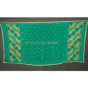 PURE CHINON hand embroidered Phulkari Dupatta Chunni D0698