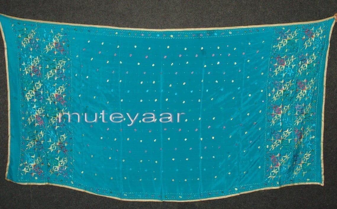 PURE CHINON hand embroidered Fulkari Dupatta Chunni D0708 1