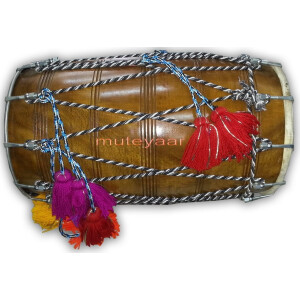 DHOL – Red Tahli / Sheesham hard wood BHANGRA prop with Packing Bag !!