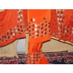 PHULKARI butter Crepe Suit with pure CHINON dupatta F0581