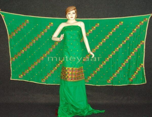 Cotton M/C EMBR. PHULKARI suit PURE CHINON DUPATTA  F0642