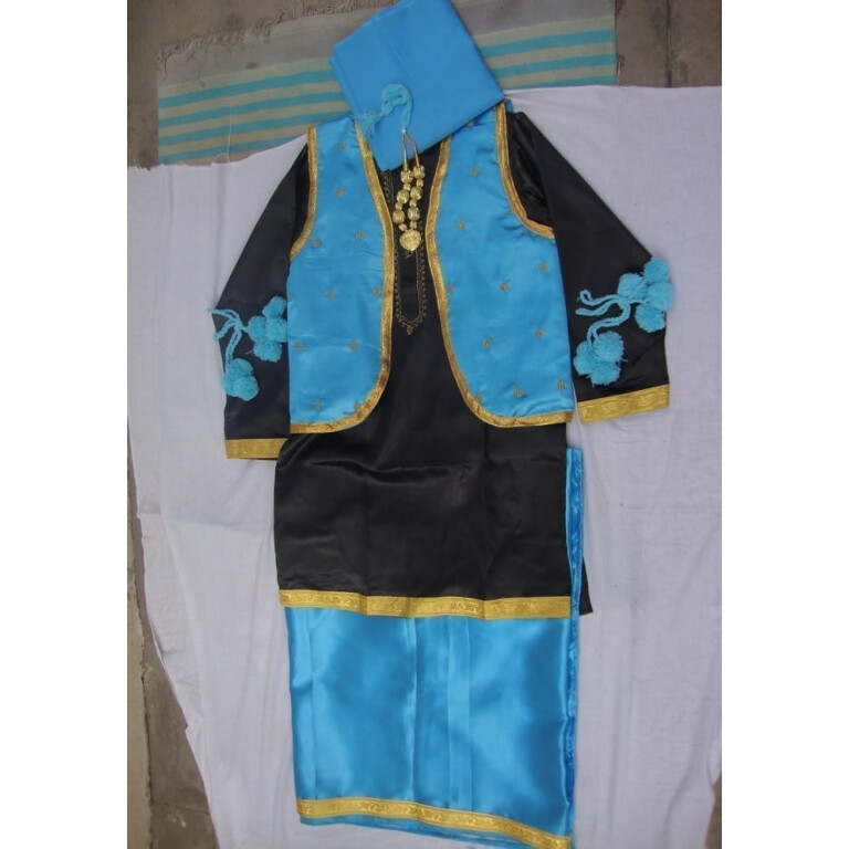 FIROZI/BLACK Bhangra dance Costume / outfit dress- ready to wear