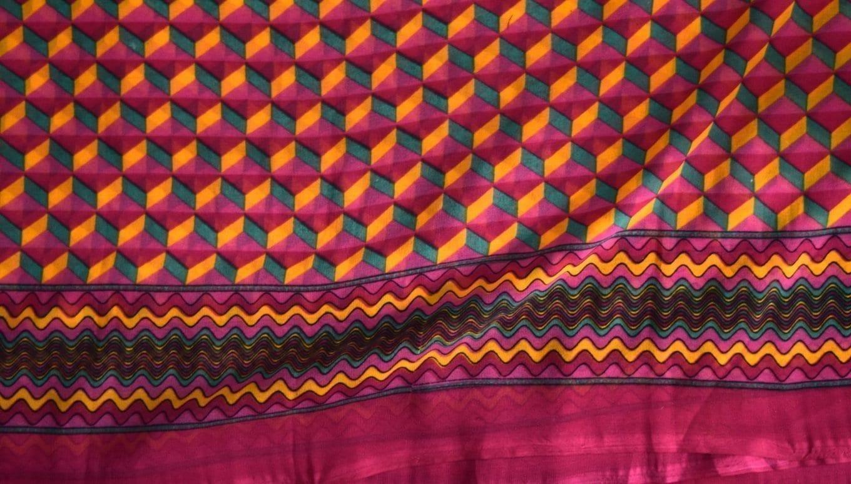 GEORGETTE PRINTED fabric for Kurti, Saree, Salwar, Dupatta GF014 2