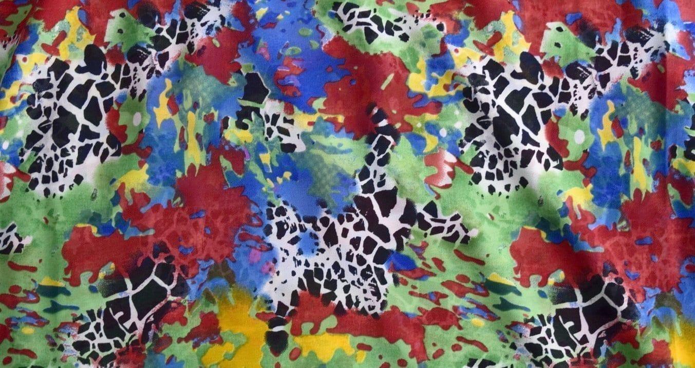 GEORGETTE PRINTED fabric for Kurti, Saree, Salwar, Dupatta GF021 2