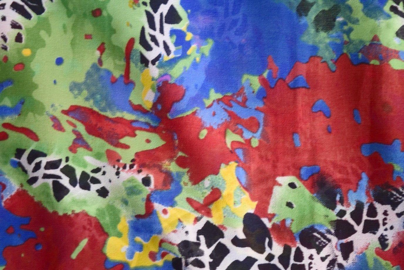 GEORGETTE PRINTED fabric for Kurti, Saree, Salwar, Dupatta GF021 3