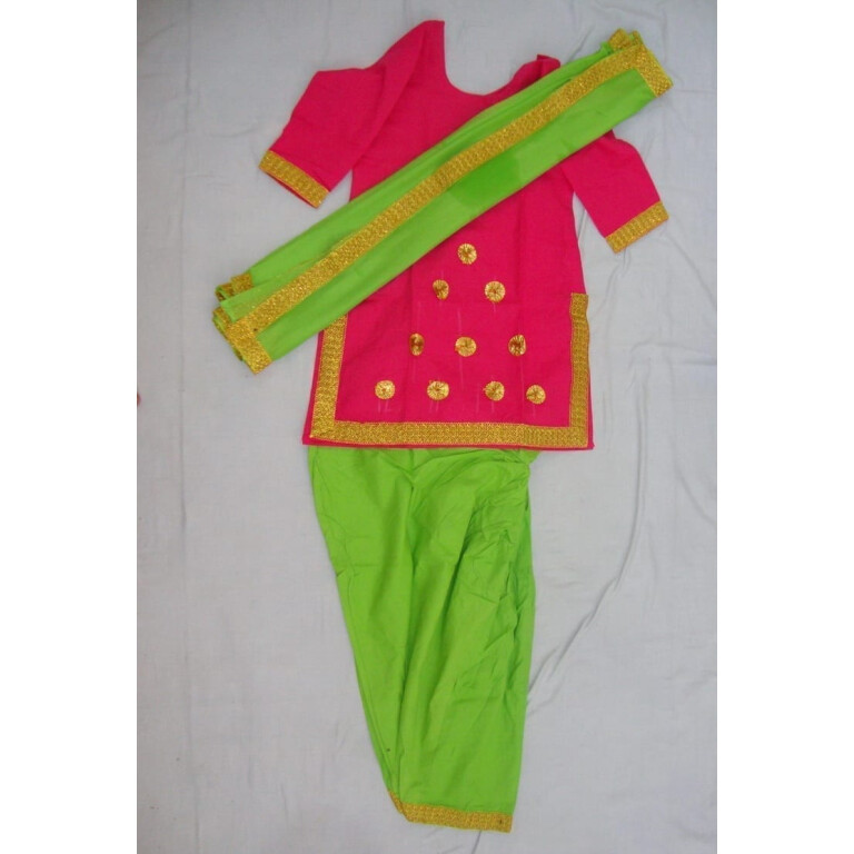 Green Magenta custom made GIDDHA  Costume outfit suit  dress