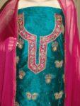 Maheshwari Cotton Hand Embroidered partywear Punjabi Suit H0033