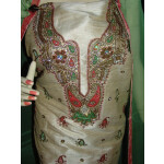 3D Khadi cotton Silk Hand Embroidered Panjabi Suit H0060