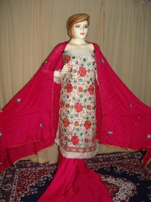 TissueCotton/Makhmali Suit pure chinon dupatta JAAL EMBR. H0067