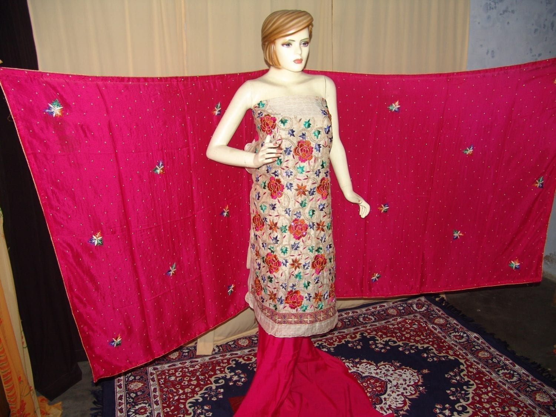 TissueCotton/Makhmali Suit pure chinon dupatta JAAL EMBR. H0067 3