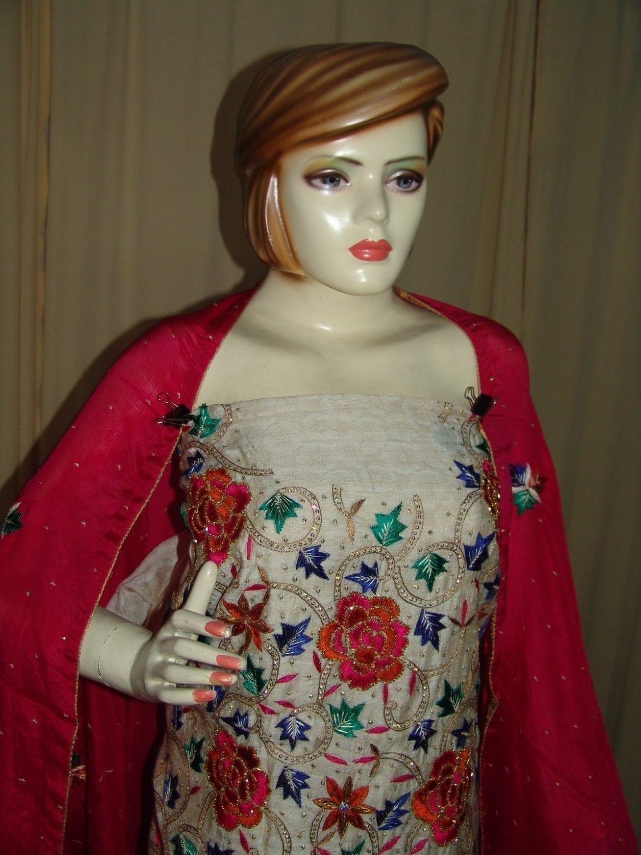 TissueCotton/Makhmali Suit pure chinon dupatta JAAL EMBR. H0067 4