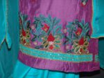 Partywear Silky Cotton Hand Embroidered Punjabi Suit H0087