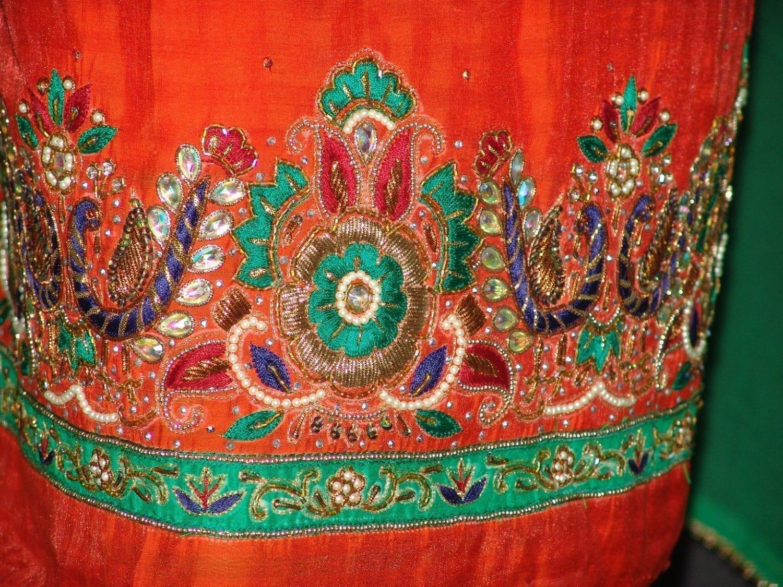 Partywear Cotton Hand Embroidered Punjabi Suit Dupatta set H0090 3