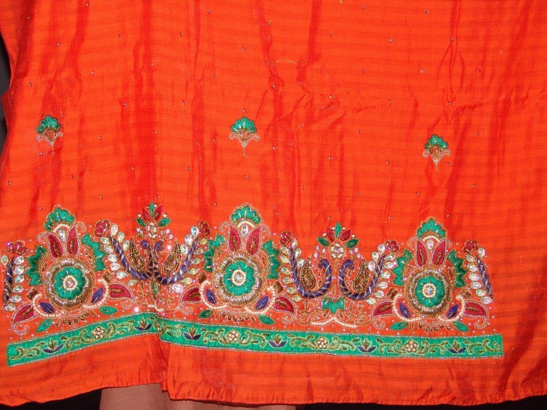 Partywear Cotton Hand Embroidered Punjabi Suit Dupatta set H0090 4