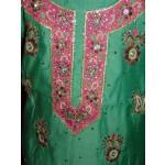 Partywear Cotton Hand Embroidered Punjabi Suit Dupatta set H0093