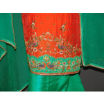 Partywear Cotton Hand Embroidered Punjabi Suit Dupatta set H0094