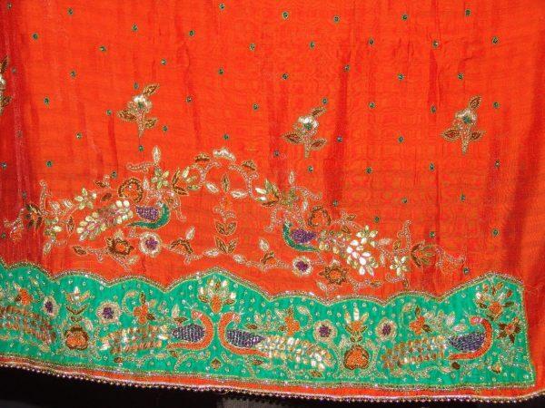 Partywear Cotton Hand Embroidered Punjabi Suit Dupatta set H0094