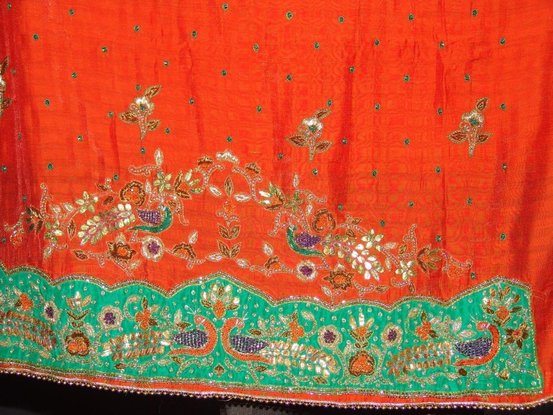 Partywear Cotton Hand Embroidered Punjabi Suit Dupatta set H0094 3