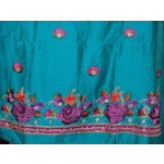 Partywear Cotton Hand Embroidered Punjabi Suit Dupatta set H0095