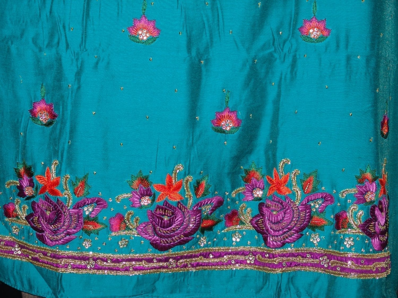 Partywear Cotton Hand Embroidered Punjabi Suit Dupatta set H0095 3