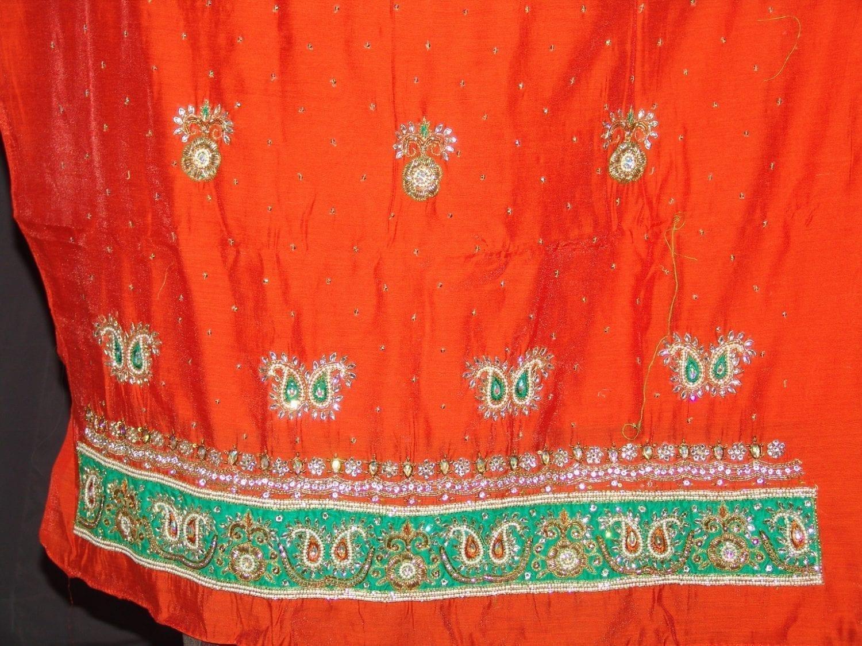 Partywear Cotton Hand Embroidered Punjabi Suit Dupatta set H0098 3