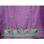 Partywear Cotton Hand Embroidered Punjabi Suit Dupatta set H0099