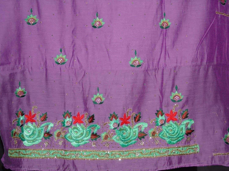 Partywear Cotton Hand Embroidered Punjabi Suit Dupatta set H0099 3
